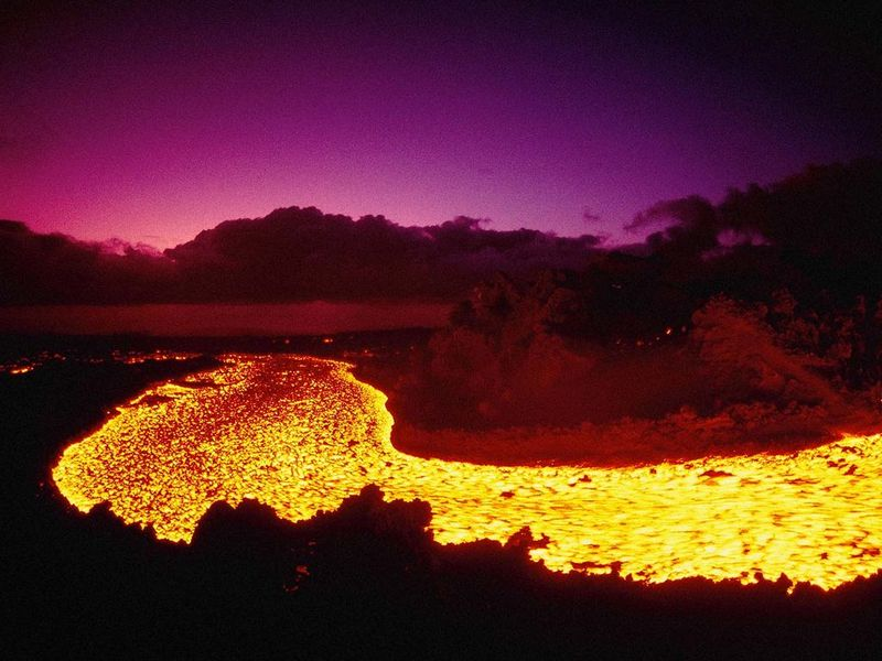 Amazing Pic Lava Flow